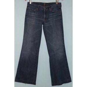 7 For All Mankind Size 30 Dojo Wide Leg Jeans